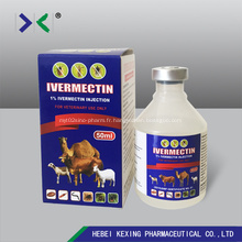 Injection d'ivermectine 1% Flacon en plastique