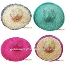 Sombrero de paja sombrero mexicano llano por encargo