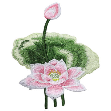 Lotus 3D Stickerei Blumen Applikationen Brautkleid