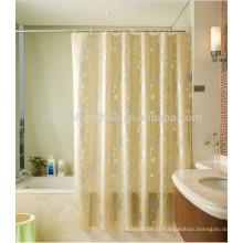 Peva imprimiu cortinas de janela de chuveiro de banho amarelo