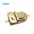 New design press for handbag  high quality bag hardware twist purse lock metal lock locks for leather bags