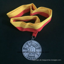 Benutzerdefinierte Znic Legierung Medaille für 30 Jahre alten Nicke Medaille