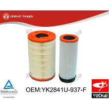 YK2841U-937-F Original Yuchai engine air filter for Chinese truck