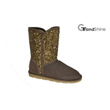Women′s New Arrival Girls Snow Boots with Glitter Shaft