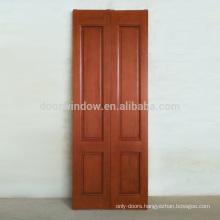 Luxury interior wood door solid hardwood finger joint wood board with oak veneers red color folding storm door for apartment