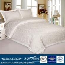 Venta al por mayor barato 300T peinado hotel de algodón balfour camas de hotel