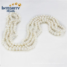 "Freshwater Pearl 5mm a+ 60"" Potato Long Inch Pearl Necklace"