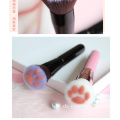 Pink Black Cute Cat Paw Foundation Βούρτσα