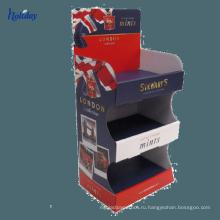 супермаркет картонные коробки дисплей счетчика для книг