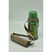 High Quality 304 Stainless Steel Vacuum Flask Double Wall Vacuum Flask Svf-600e Green