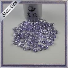 Oval brilhante diamante corte lavanda cor americana diamante CZ