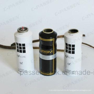 Aluminium-Körperpflege-Sprühflasche mit flacher Schulter (PPC-AAC-005)
