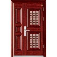 Puerta de acero doble, puerta principal con una pequeña, el tamaño puede personalizar