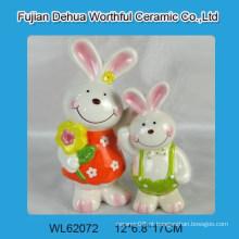 Lovely cerâmica easter coelho decoração
