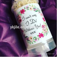 Confetti de mariage naturel confettis Biodedradable Push Pop