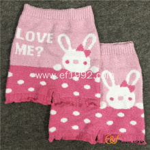 Pink Jacquard Knitted Warm Short Pants for Babies