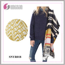 2015 Europe Winter Jacquard Snowflake Tassel Warm Imitate Cashmere Scarf