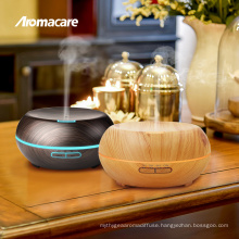 Colorful LED Changing Light 200ml Aroma Dispenser Wood Grain Oil Diffuser