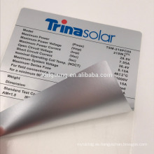 kundenspezifischer klebender haltbarer Aluminiumfolie-Aufkleberpapier Hohe Temperaturbeständigkeit