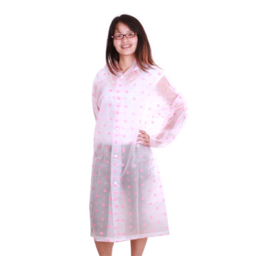 lovely long ladies EVA Raincoat with full printing