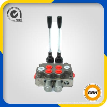 Válvulas de controle direcional monobloco hidráulico 70lpm com 2 carretéis