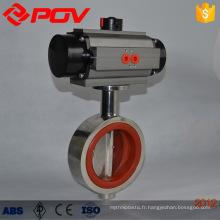 sanitary wafer type pneumatic butterfly valve