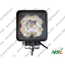 Venta caliente Luz de trabajo LED de alta calidad y luz de conducción LED de 27W de alto lumen Punto de luz LED / luz