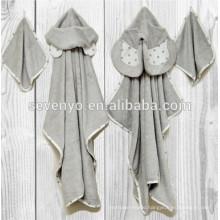 Natemia Bamboo Hooded Bath Towel Highly Absorbent, Soft, Bacterial Towel For Boys, Girls, Newborn,bear ,elephant