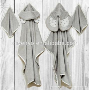 Natemia bambou à capuchon serviette de bain très absorbant, doux, serviette bactérienne pour les garçons, filles, nouveau-né, ours, éléphant