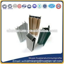 Profil en aluminium recouvert de poudre pour portes et fenêtres, châssis anodisé, profil en aluminium grain grain pour fenêtres