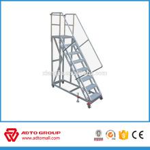 Aluminium platform ladders,movable aluminum stairs,mobile platform ladder