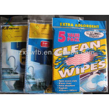 Household disposable nonwoven cleaning wipe