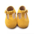 T Bar Leather Baby Vestido Zapatos Zapatos