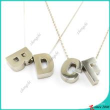 Colar de prata moda alfabeto para colar de menina (fn16041812)