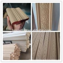 furniture use beech wood moulding Hand carved wood door frame