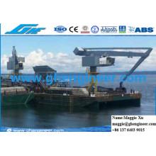 Cement Plant Knuckle Boom Quay Handling Machine Hydraulic E Crane