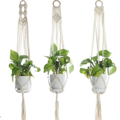simple rope plant hanger diy