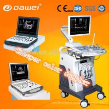 Os dispositivos diagnósticos ultrassônicos portáteis do CE 3d / 4d colorem o sistema do ultra-som de Doppler