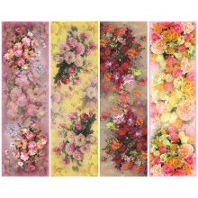 Elegant Print Silk Flower Printing Scarf (C-038)