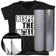 Hot selling dark sliver reflective heat transfer printing vinyl film iron on t shirts tracksuit