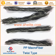 Concrete Fiber Reinforcement PP Twist Fiber Macrofiber