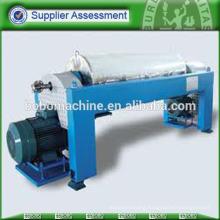 Horizontal centrifuge separator with drum