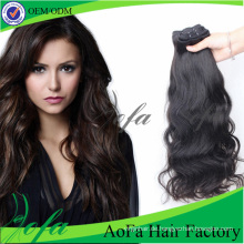 Unverarbeitetes reines indisches Haar des Grad-7A natürliches menschliches Haar