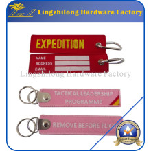 Custom Design Embroideried Keychain