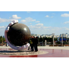 Modern Large High quality Copper Ball Sculpture for garden decoration