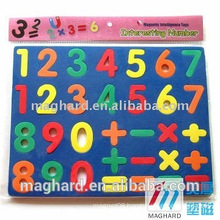 recyclable magnetic EVA foam numbers for better Learning tools, educational toys