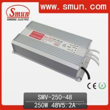 250W 48V 5.2A fuente de alimentación de conmutación IP67 LED Driver