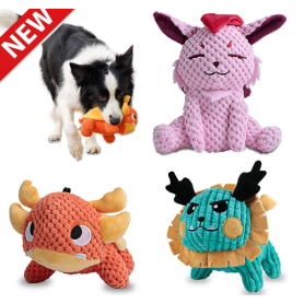 Squeaky Plush Dog Toys Pack for Puppy