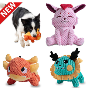 Squeaky Plush Dog Toys Pack pour chiot