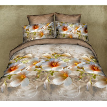 3D Bed Linen Bedding Set com capa de edredão de questima e capa de travesseiro